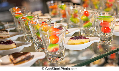 Desserts, The colorful plating