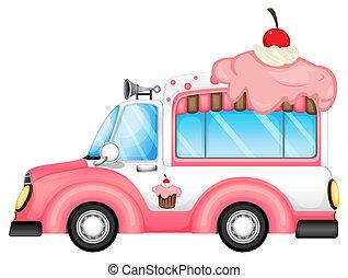 desserts, vente, véhicule