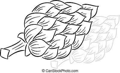 dessiné, dessin animé, artichaut