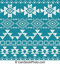 dessiné, navajo, seamless, main, modèle