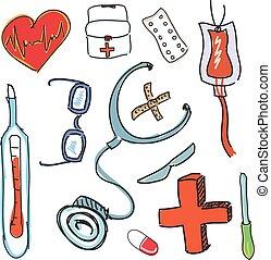 dessiné, outils, traitement
