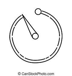dessiné, style, icône, contour, noir, ou, main, minuteur, ...
