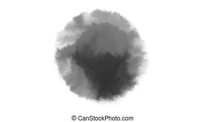 dessiné, transition, mouillé, blanc, tache, vidéo, aquarelle...