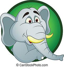 dessin animé, éléphant