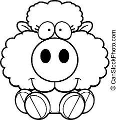 Agneau dessin anim agneau vecteur dessin anim illustration - Dessin agneau ...