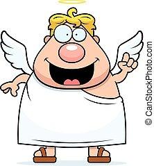 dessin animé, ange, idée