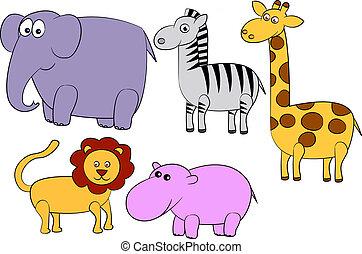 dessin animé, animal