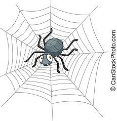 dessin animé, araignés