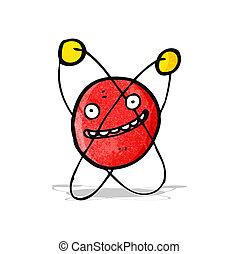 dessin animé, atome