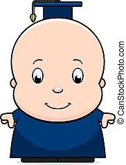 dessin animé, bébé, génie