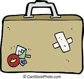 dessin animé, bagage