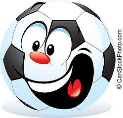 dessin animé, balle, football