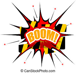 Boom toiles blanc toiles illustration fond boom - Boom dessin anime ...