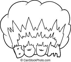 Explosion dessin anim boom explosion boom vecteur - Boom dessin anime ...