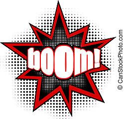 Clipart de boom mot illustration boom explosion - Boom dessin anime ...