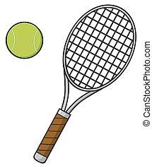 Raquette boule tennis boule bleue tennis vague fond - Raquette dessin ...