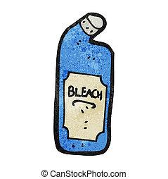 dessin animé, bouteille, décolorant