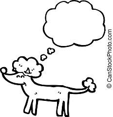 A pens bulle dessin anim caniche - Dessin caniche ...