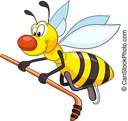 dessin animé, caractère, abeille