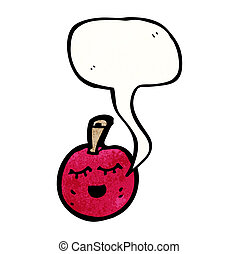 Rigolote cerise dessin anim illustration fruits rigolote nourriture cerise caract re - Dessin cerise ...