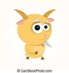 dessin animé, chèvre