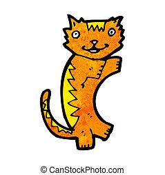 dessin animé, chat gingembre