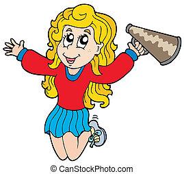dessin animé, cheerleader