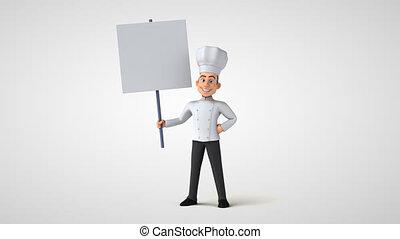 dessin animé, chef cuistot, caractère, amusement