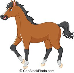 Marche cheval dessin anim marche illustration cheval vecteur dessin anim - Dessin anime indien cheval ...
