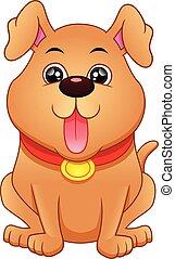 dessin animé, chien, rigolote