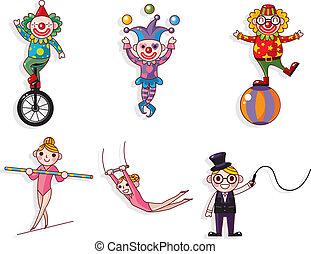 dessin animé, cirque