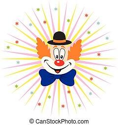 dessin animé, clown, figure