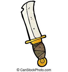 dessin animé, couteau