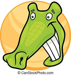 Crocodile chant dessin anim illustration rigolote caract re illustration crocodile - Dessin anime crocodile ...