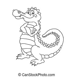 Crocodile adorable dessin anim heureux alligator caract re queue dent amusement vie - Dessin anime crocodile ...