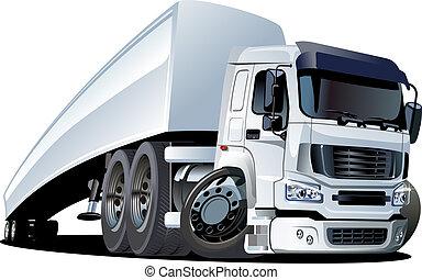 dessin animé, demi-camion