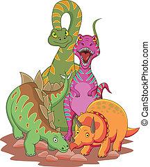 dessin animé, dinosaure