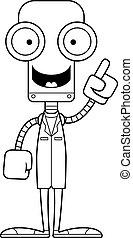 dessin animé, docteur, idée, robot