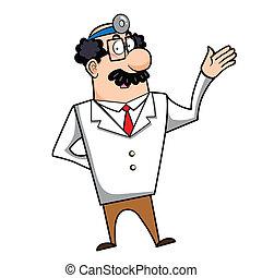 dessin animé, docteur
