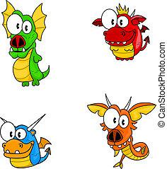 dessin animé, dragons