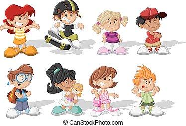 dessin animé, enfants