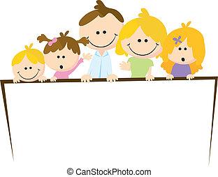 dessin animé, famille