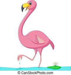 Flamant Rose Dessin Anime Tout Art Flamingo Agrafe Simple