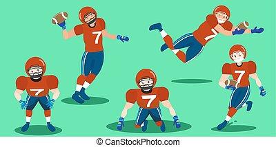 Football isol am ricain bullhorn dessin anim quarterback fond joueur gril football - Dessin football americain ...