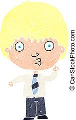 Gar on question r ponse retro dessin anim clipart - Reponse dessin anime ...