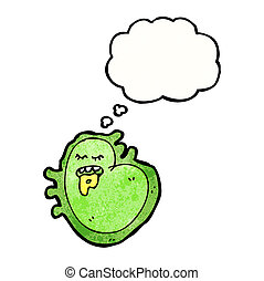 dessin animé, germe