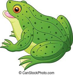 dessin animé, grenouille