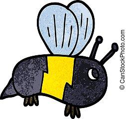 dessin animé, griffonnage, bumble abeille