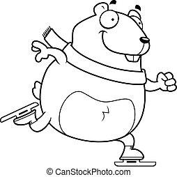 Hiver hamster gai parapluie hamster tenue - Hamster dessin anime ...