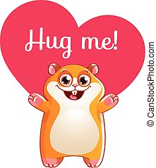 Treinte hamster pr t hug heureux hamster dessin anim - Hamster dessin anime ...